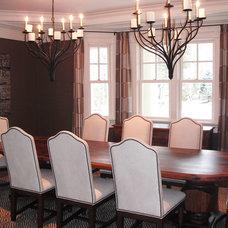 Traditional Dining Room by Lauren Milligan Design