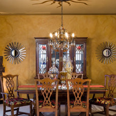 Traditional Dining Room by Nisha Tailor Interior Design.LLC