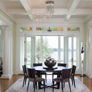 Formal Dining Room opens to waterview