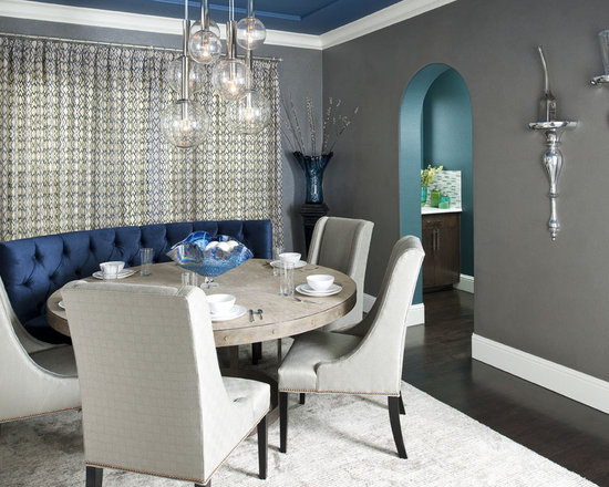 Beautiful 7,727 Blue Grey Dining Room Design Photos