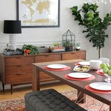 Midcentury Dining Room by Heather Freeman Design Co.