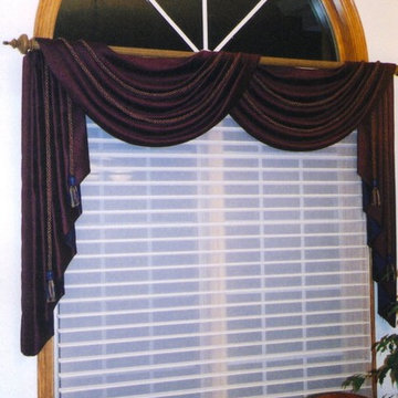Formal Dining room valance with arched window above