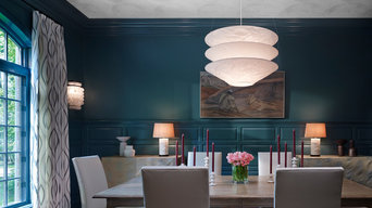 Formal Dining Room with Decorative Panels on Custom Hardware