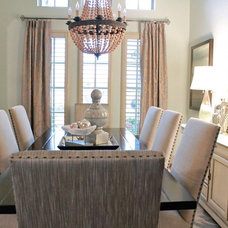 Transitional Dining Room by Traci Connell Interiors