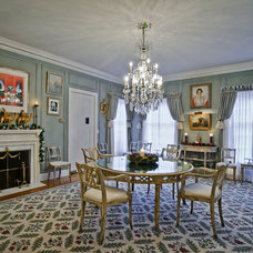 Traditional Dining Room by Dennis Mayer, Photographer