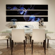 Contemporary Dining Room by Annie Santulli Designs