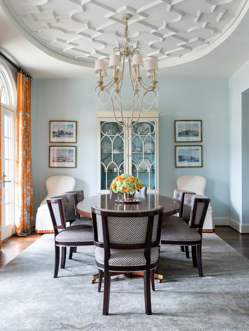 Houzz Dining Room Ideas Part - 18: Inspiration For A Timeless Dark Wood Floor And Brown Floor Enclosed Dining  Room Remodel In Dallas