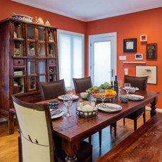 Eclectic Dining Room by Paxton Place Design, LP
