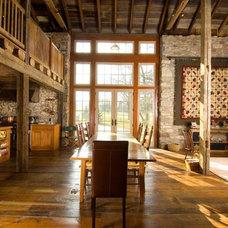 Farmhouse Dining Room by Archer & Buchanan Architecture, Ltd.