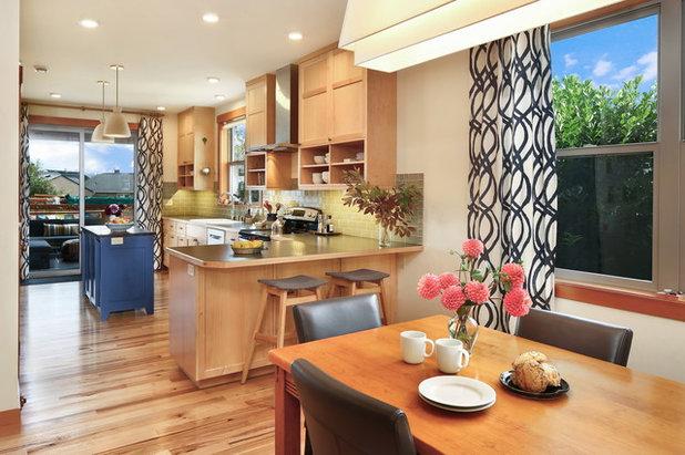 Craftsman Dining Room by Bellingham Bay Builders