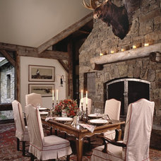 Rustic Dining Room by OSM Wyoming, Inc.