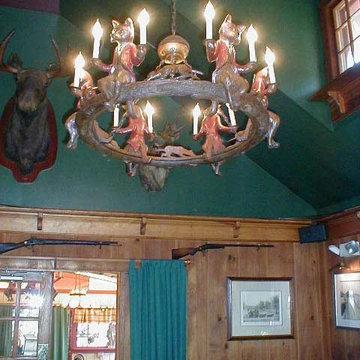 Fox chandelier