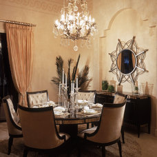 Mediterranean Dining Room by Franco A. Pasquale Design Associates, Inc