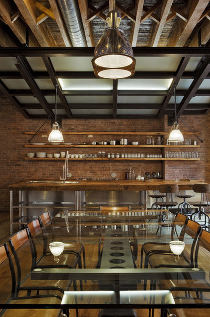 Industrial Dining Room by Jane Kim Design