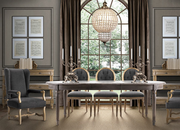 Eclectic Dining Room by Zin Home