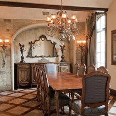 Traditional Dining Room by Bravo Interior Design