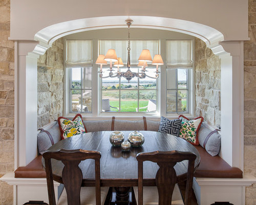 Example of a country dining room design in Omaha with beige walls. 11 Best Farmhouse Dining Room Ideas   Decoration Pictures   Houzz