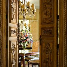 Mediterranean Dining Room by Cabell Design Studio