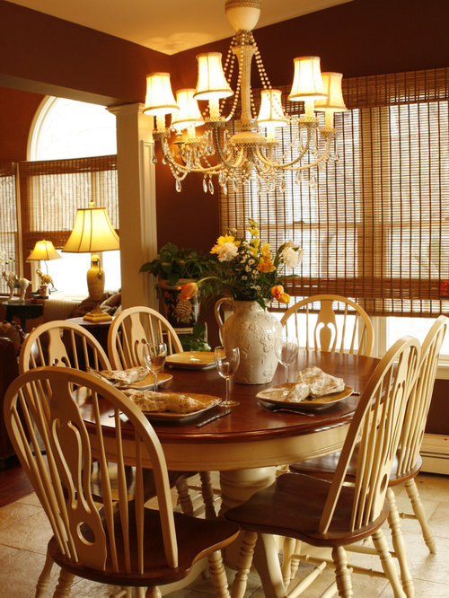 Inspiration For A Timeless Dining Room Remodel In New York With Brown Walls Part 51