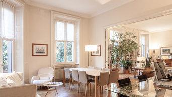 French parquet herringbone block flooring