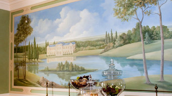 French pastoral mural