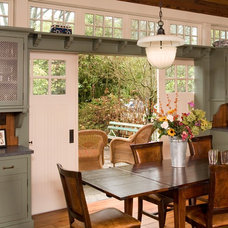 Farmhouse Dining Room by Roger Turk/Northlight Photography