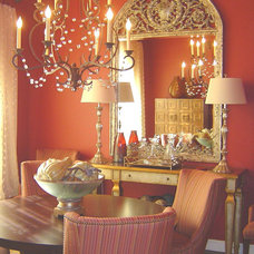 Eclectic Dining Room by Dona Rosene Interiors