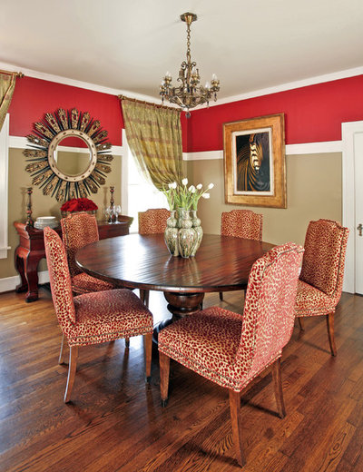 traditional dining room by dona rosene interiors - Two Color Living Room Walls