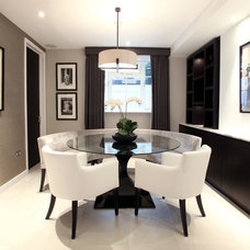 Contemporary Dining Room by Alex Maguire Photography