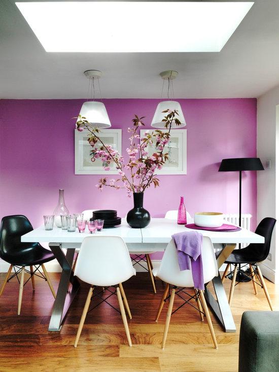Rose Color Dining Room Design Ideas, Remodels & Photos