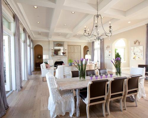 Salle manger ouverte sur le salon romantique photos et id es d co de salles manger - Le salon 105 ...