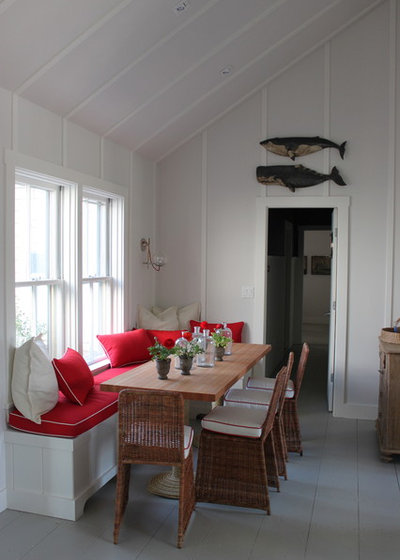 Beach Style Dining Room by Main Street Construction
