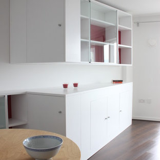 Inspiration for a contemporary dining room remodel in Devon