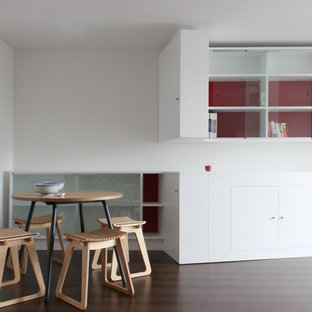 Example of a trendy dining room design in Devon