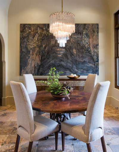 Transitional Dining Room by Aria Stone Gallery