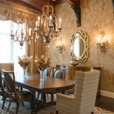 Mediterranean Dining Room by Dixon Kazek Morrison Custom Homes