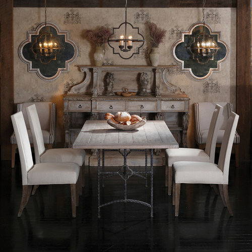 Inspiration for a transitional kitchen dining room combo remodel in Atlanta. Gothic Dining Room   Houzz