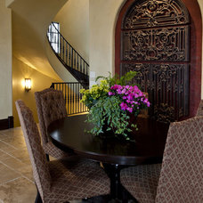 traditional dining room by Rick Hoge