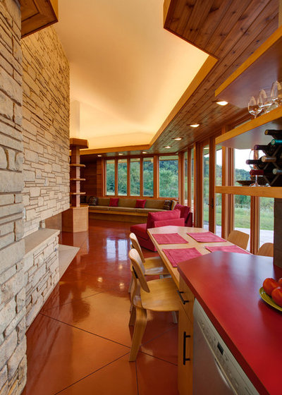 usa houzz frank lloyd wright inspires illinois weekender. Black Bedroom Furniture Sets. Home Design Ideas