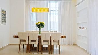 Galilee Lighting -modern rectangular glass chandeliers
