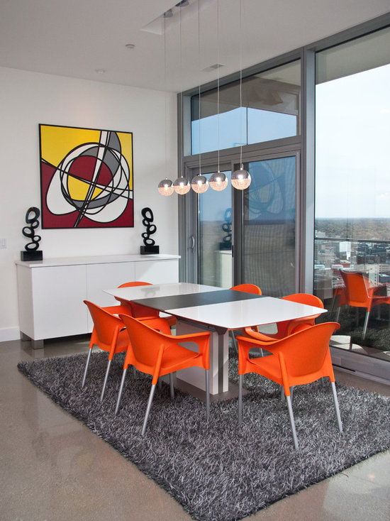 orange and grey dining room design ideas, remodels & photos