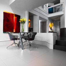 Contemporary Dining Room by La Nova Tile Importers