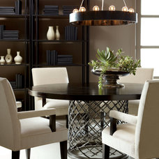 Transitional Dining Room by Paoli Design Center