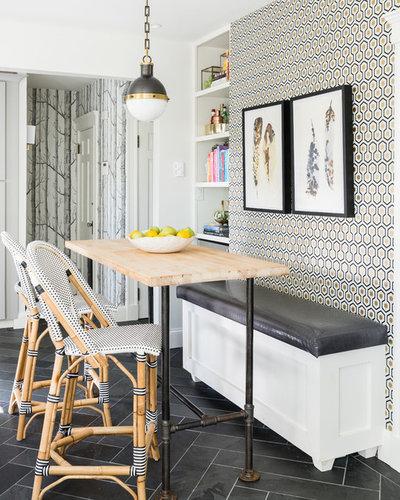 Transitional Dining Room by Jennifer Cavorsi Design