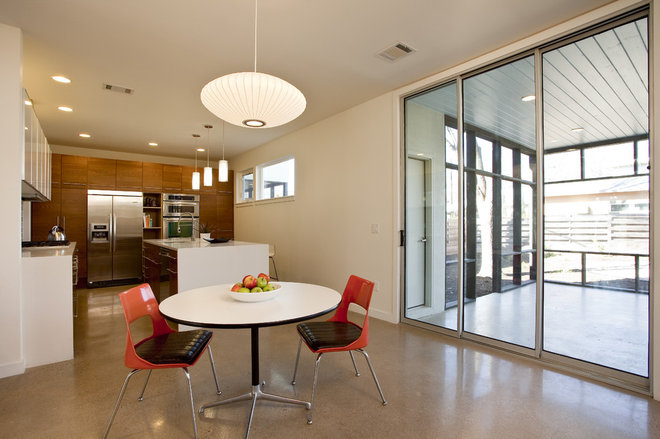 contemporary dining room by don harris architect