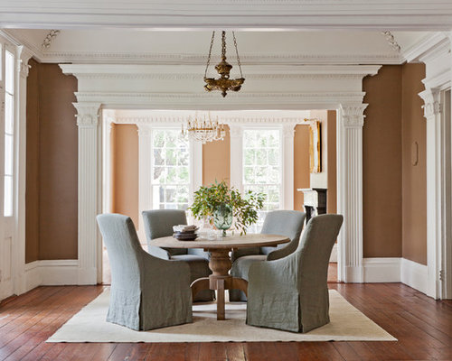 Inspiration For A Large Timeless Medium Tone Wood Floor Great Room Remodel In Charleston With Brown