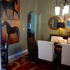 Contemporary Dining Room by Adentro Designs