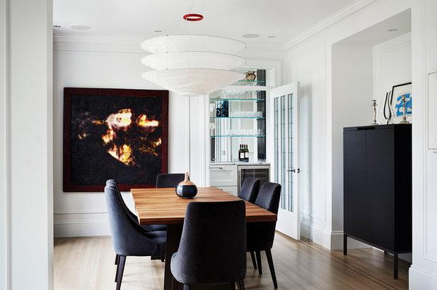 Di transizione Sala da Pranzo by Hodgson Design Associates