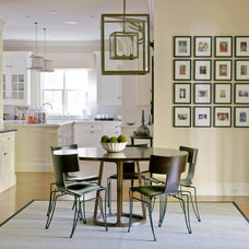 Transitional Dining Room by S. B. Long Interiors