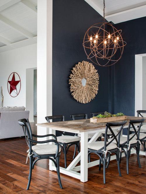 Navy dining room design ideas remodels photos with blue for Navy blue dining room ideas